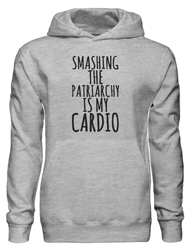 Smashing The Patriarchy is My Cardio Sudadera con capucha bnft, gris, L