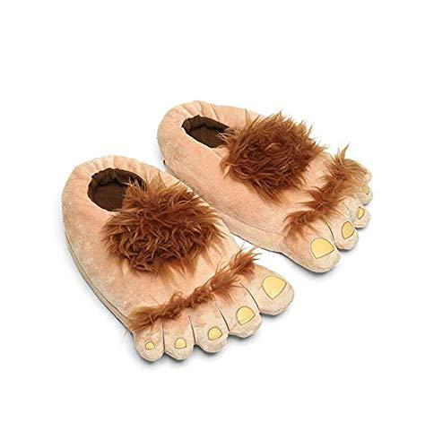 LANFIRE Zapatillas de Monster de Dibujos Animados Creativas de algodón Zapatillas de Felpa caseras Zapatillas de algodón cálido (Yellow)