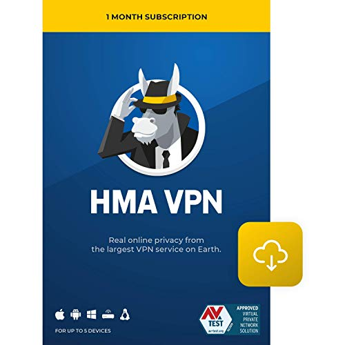 HMA VPN | Privacy Protection Service | Win, Mac, iOS, Android, Linux, Routers | 5 Devices, 1 Month [Download]