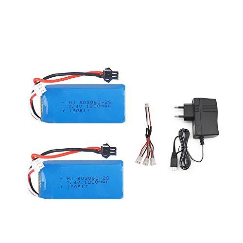 7 4V 1200mAh 2S Set caricabatteria Lipo per H26 H26C H26W H26D H26HW Ricambi per Drone quadricottero Elicottero Telecomando-Cina_Blu