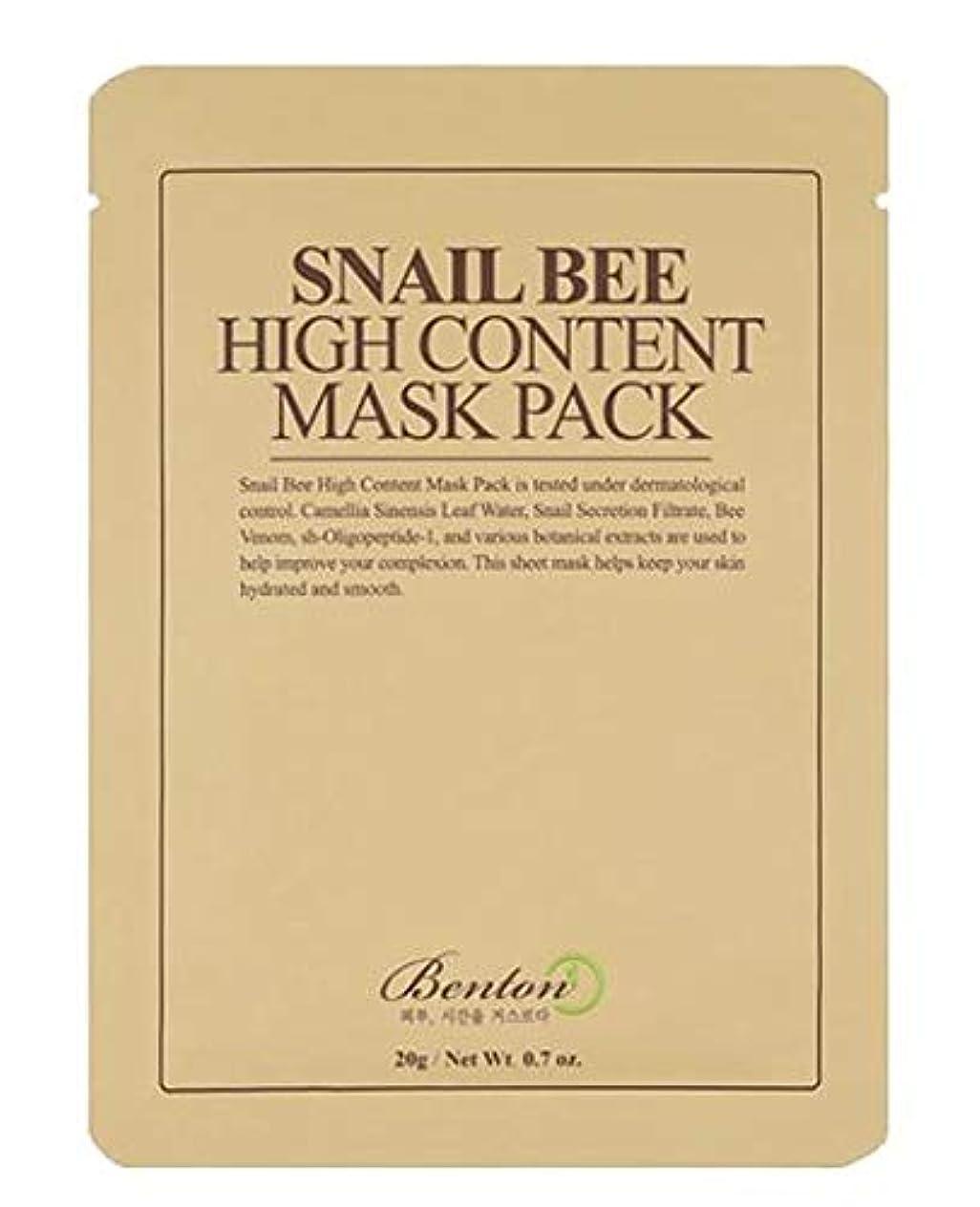 哀浸透するやがてBENTON Snail Bee High Content Mask Pack (並行輸入品)