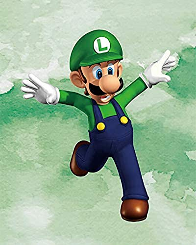 Mario Game - Pintura al leo moderna, lienzo de pintura, personajes de pelcula gigantes e impresin, para la decoracin del hogar, sin marco (B,40 x 60 cm)