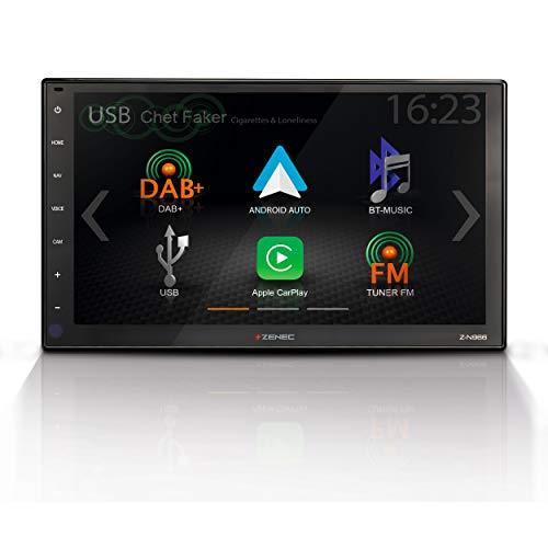 """ZENEC Z-N966: 2-Din Autoradio, Multimediasystem mit 9""""/22,9 cm HD Touchscreen, Mediencenter mit DAB+, Apple CarPlay, Android Auto, zum Navi für PKWs oder Reisemobile erweiterbar"""