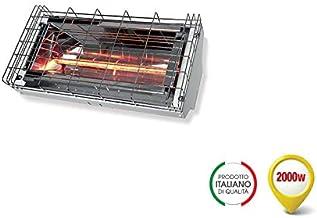 Grado Estufa lámpara rayos infrarrojos, IRK onda corta, difusión simétrica calefactora, potencia 2000 W, IP24, 230 V, GH-2000 WH