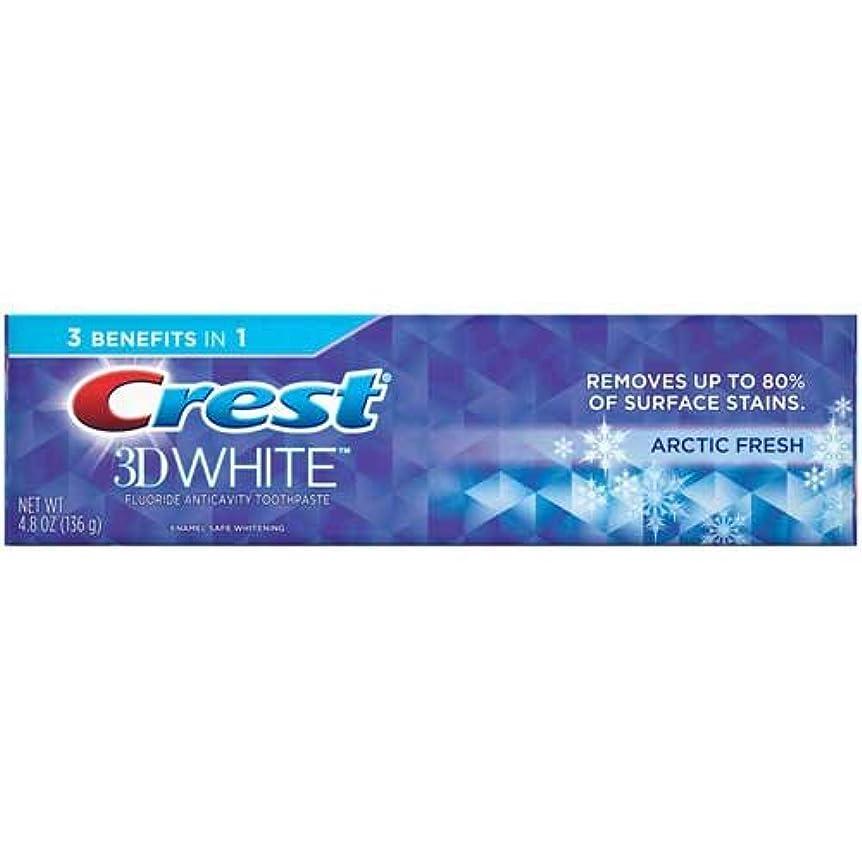 要旨背景アノイCrest 3Dホワイトジェル北極新鮮な歯磨き、4.8オンス - ケースあたり24。