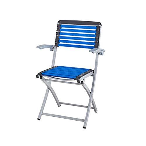 BYCSD stoel, eenvoudig, metaal, inklapbaar, elastisch, stoel, bureaustoel en vrije tijd, voor binnen en buiten