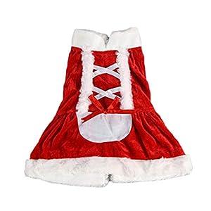 Père Noël Costume de chien pour animal domestique Chat Vêtements, robe d'hiver Apparel Costume Cadeau pour chiot, chats