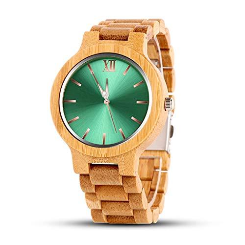 Orologio da uomo Reloj de Madera, Hecho a Mano Industrial, Reloj Deportivo de Cuarzo for Hombre, Salud, Romance, Los Mejores Regalos for los Amantes, Relojes de Pareja (Color : B)