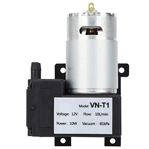 SALUTUY Mini Bomba de vacío VN-T1, Bomba de vacío Micro DC 10L / min Bomba de vacío sin Aceite 81KPa Piezas mecánicas Accesorio Industrial de bajo Ruido(12V)