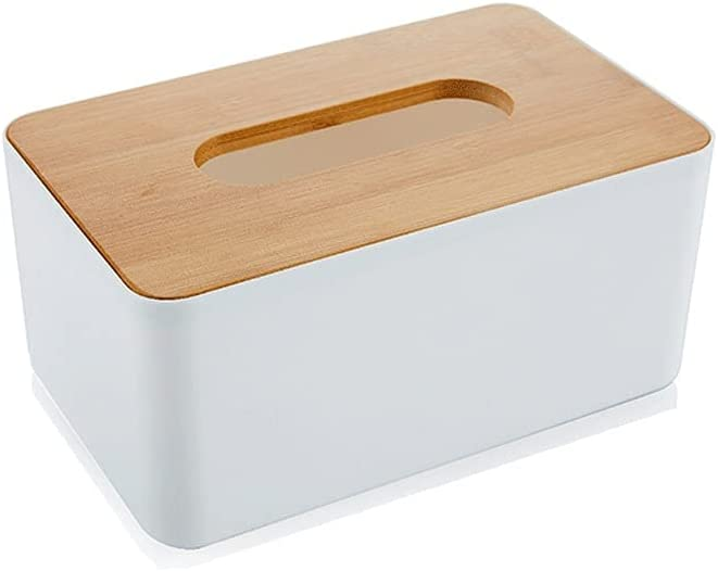 YYDS Tissue Holder Bamboo Be super Long Beach Mall welcome Wood Storage Paper Box Desktop