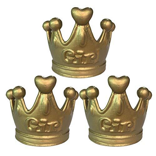 Panda Legends Gold Crown Drawer Knobs Retro Mädchen Zimmer Kleiderschrank zieht Dekor, 3 Stück