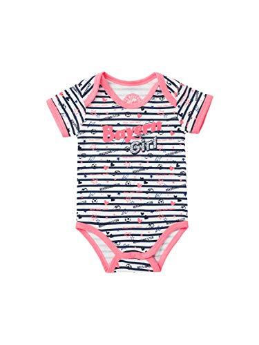 FC Bayern München Baby Body Bayern Girl weiß/rosa, 62/68