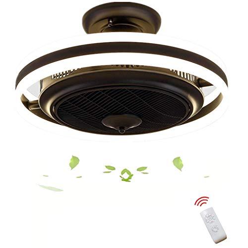 JLL Ventiladores de Techo Perfil Moderno/bajo Techo, Ventilador de Techo para Exteriores, con clasificación de Humedad, Kit de luz Adaptable, Dispositivo Blanco/Negro (Color : Black)