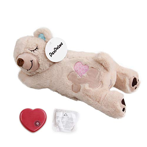 Puppy Heart Beat Plush Toy Pet Soft Plush Toy with Warmer Pack Puppy Anxiety Relief Toy