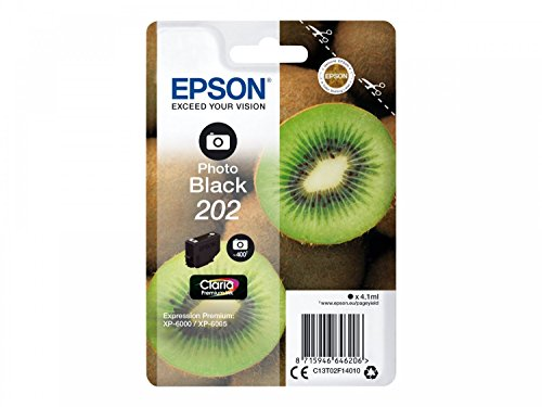 Epson 202 4.1 ml 400páginas Foto zwart inktpatroon - inkt cartridge voor printers (Epson, Foto Zwart, Expression Photo Xp-6000, xp-6005, 4,1 ml, 400 pagina's)