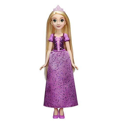 Disney Prinzessin Schimmerglanz Rapunzel Modepuppe mit glitzerndem Rock, Krone und Schuhen