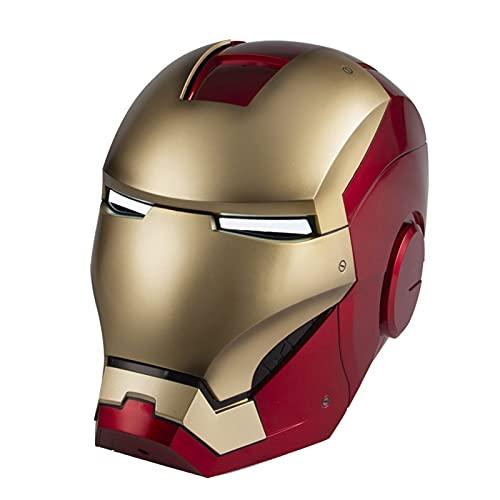 Acción en Vivo de Control, Máscara de Iron Man/Apertura Manual/Cierre/Modelo Portátil de Control Remoto, Accesorios de disfraces de cosplay de película de Halloween