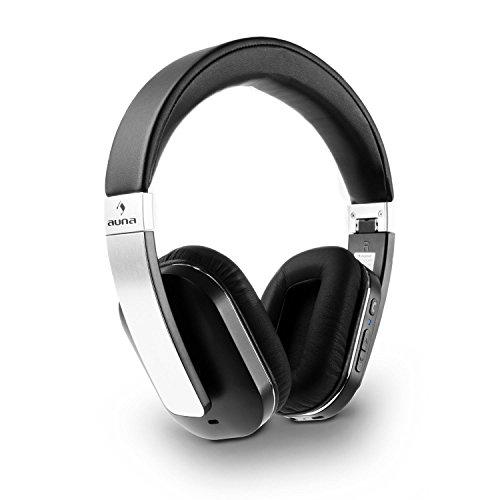 auna Elegance ANC - Stereo Kopfhörer, Bluetooth Wireless Headphones, Over-Ear-Headphones, Headset, Bluetooth 4.0 + EDR, aptX, NFC, Lithium-Ionen-Akku, 14 h Betriebszeit, faltbar, schwarz