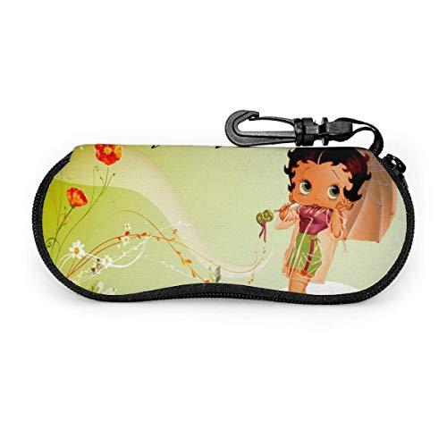 TV Show-Betty-Boop - Estuche blando para gafas de sol con clip para cinturón, estuche protector suave de neopreno con cremallera para anteojos, 17cm × 8cm