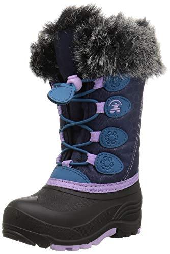 Kamik Girl's Snowgypsy Snow Boot, Navy/Teal, 4 Medium US Big Kid