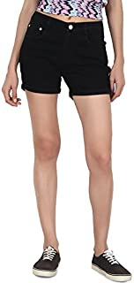 PepTrends Black Denim Shorts