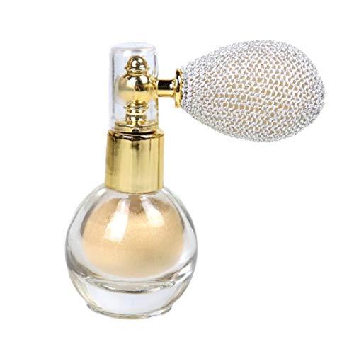 Naicasy Proyección de Polvo de Maquillaje del Brillo del Reflejo aclaran Aroma de resaltado Pigmento en Polvo para la Cara del Cuerpo del Pelo -Marfil Blanca