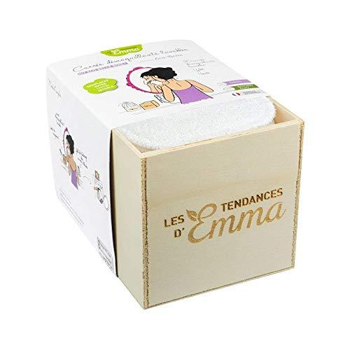 Kit Eco Belle bois+ 20 carrés démaquillants lavables Coton bio Biface