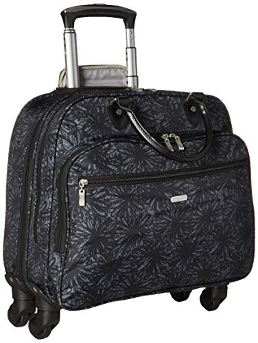 Baggallini 4 Wheel Rolling Tote, Onyx Floral