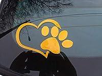 2 個素敵な猫犬足跡反射カーデカールステッカー窓フットプリントロゴデカール-style 2