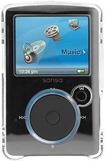 Black Snap On Hard Cover Case Screen Protector for Sandisk Sansa Fuze SDMX14R