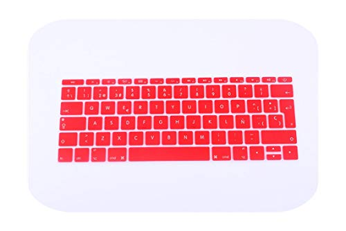 Spanish EU Silicone Keyboard Protector Cover Skin Protective Film For Mac Book pro 13 Not touch bar 12 Colorful keyboard film-K-