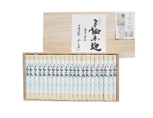 極上 手延べそうめん 三輪素麺 「極細」 木箱 のし付 2,100g 42束 奈良 三輪山麓にて製造