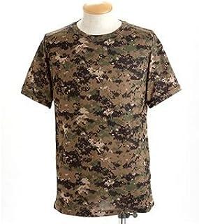 ガン汗OK!吸汗速乾カモフラージュTシャツ(迷彩Tシャツ) ピクセルウッド S