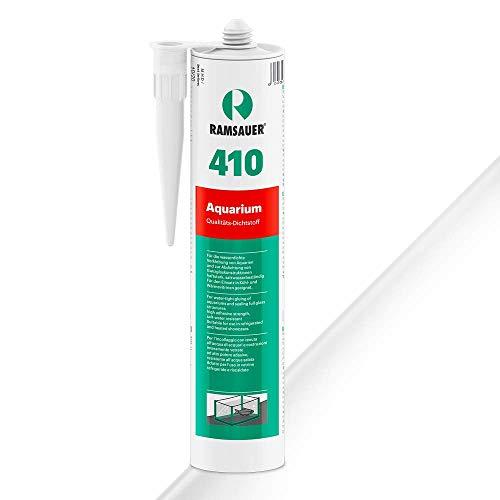 Ramsauer 410 Aquarium - Profi Silikon Dichtstoff für Aquarien und Ganzglaskonstruktionen - 310ml Kartusche (Transparent)
