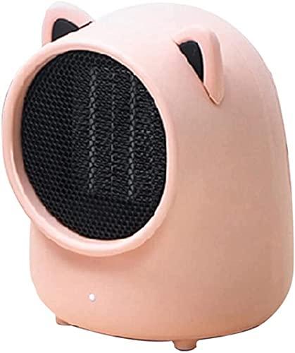 WANQPPS Calentadores eléctricos Calentador de Oficina Personal oscilante portátil pequeño Calentador Seguro pequeño para el Dormitorio Interior del hogar Termoventiladores y calefactores cerámico