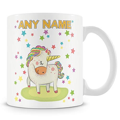 Personalised Unicorn and Stars Mug. Add any name