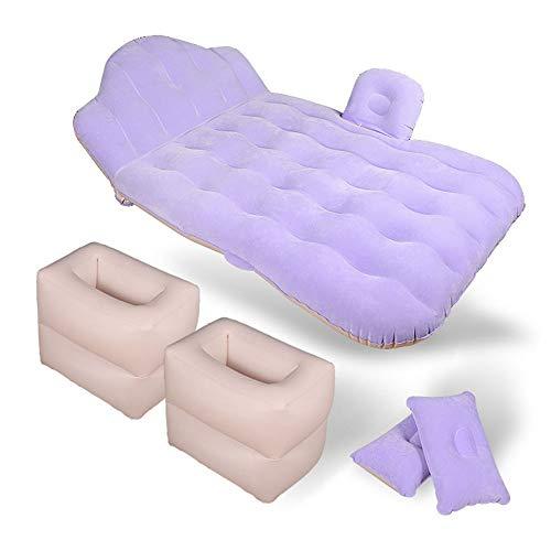 Strandzelt Auto Luftmatratze, Auto Bett aufblasbare Auto Matratze SUV Minivan Schrägheck Camping Zelt Camping Zelt (Color : Light Purple, Size : 142 * 90 * 45cm)