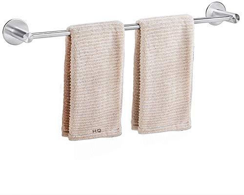 Dailyart Handtuchhalter Edelstahl Bad ohne Bohren Handtuchstange Starke Tragfähigkeit 50 cm Badetuchhalter Edelstahl Gebürstet Wandmontage fr Badezimmer und Kche