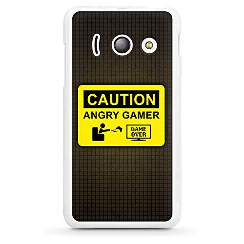 DeinDesign Silikon Hülle kompatibel mit Huawei Ascend Y300 Case weiß Handyhülle Gamer Computerspiel Hobby