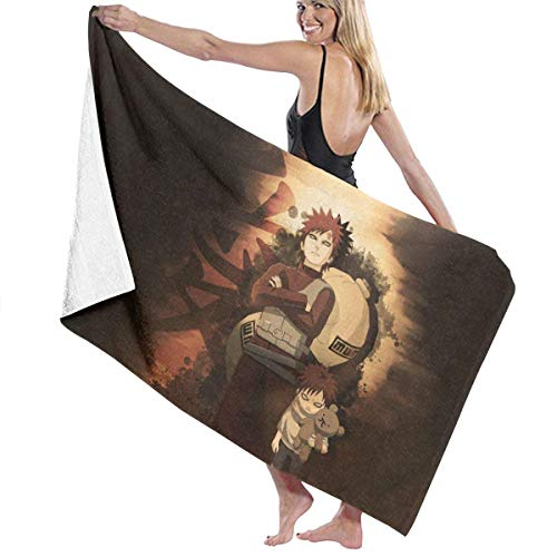 Zjipeung N-Aruto Sasuke Toallas de baño grandes de microfibra para hombres y mujeres, suave, de secado rápido, muy absorbente, mantas ligeras