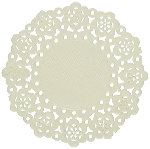 DOODLEBUG Mini Doilies (75 Pack), Lily White