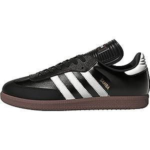 adidas mens Samba Classic Soccer Shoe, Schwarz/White, 11.5 US