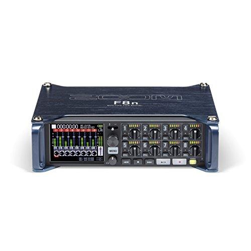 Zoom F8n 24Bit 192kHz Schwarz, Blau Digitaler Audiorekorder - Digitale Audiorekorder (2600 Ohm, 14 dBV, 120 dB, 24 Bit, 192 kHz, 10-80000 Hz)