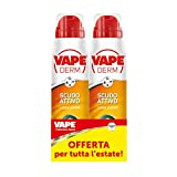 Vape Derm Vape Derm Scudo Attivo, Spray Repellente Multi Insetto Lunga Durata Antipuntura - 2 Pezzi - 160 g