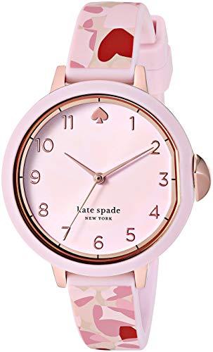 kate spade new york Women's Park Row Quartz Watch with Silicone Strap,...