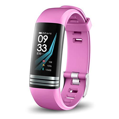 Wsaman Pulsera Actividad Reloj, Fitness Tracker con 0.96''Pantalla Color para Hombre Mujer Niño, podómetro Reloj Deportivo,Rosado