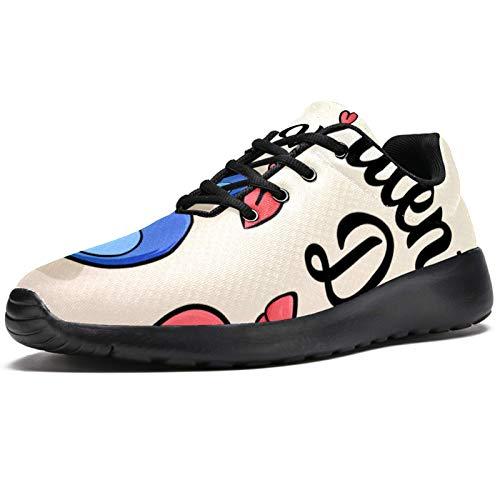 LORIES - Zapatillas de deporte para hombre, diseño de oso de San Valentín, para hombre, estilo casual, para hombre, (multicolor), 42 EU