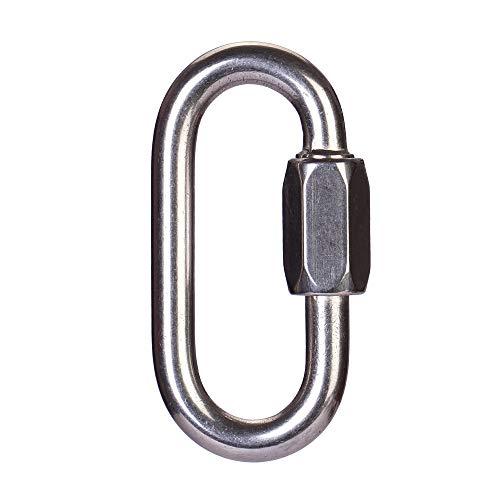 QIEZI Sécurité Boucle de Verrouillage Hanging Mei LAN Lock de Petzl Escalade Principale de Verrouillage en Acier Inoxydable (Size : 6mm)