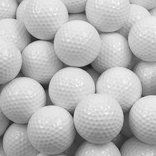 ゴルフボール 練習用 100球セット [ 2ピース ( 2層構造 ) レンジボール ] 耐久性 傷付きにくい 球速抑制 練...