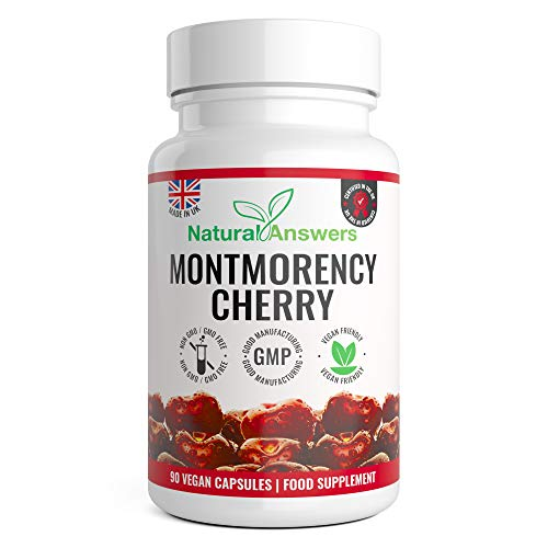 Montmorency Cherry | Cherry Extract 1100mg | 90 Capsules | High Strength Montmorency Cherries | UK Manufactured to GMP for Consistent High Quality | Vegan Friendly Capsules | Trusted Brand